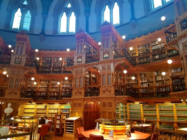 Library inside Parliamen Hill