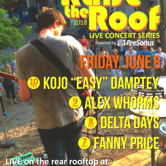 Raise the Roof - June 8 at Dr. Disc