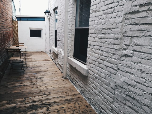 Patio outside The Aberdeen suite at Bellwether House