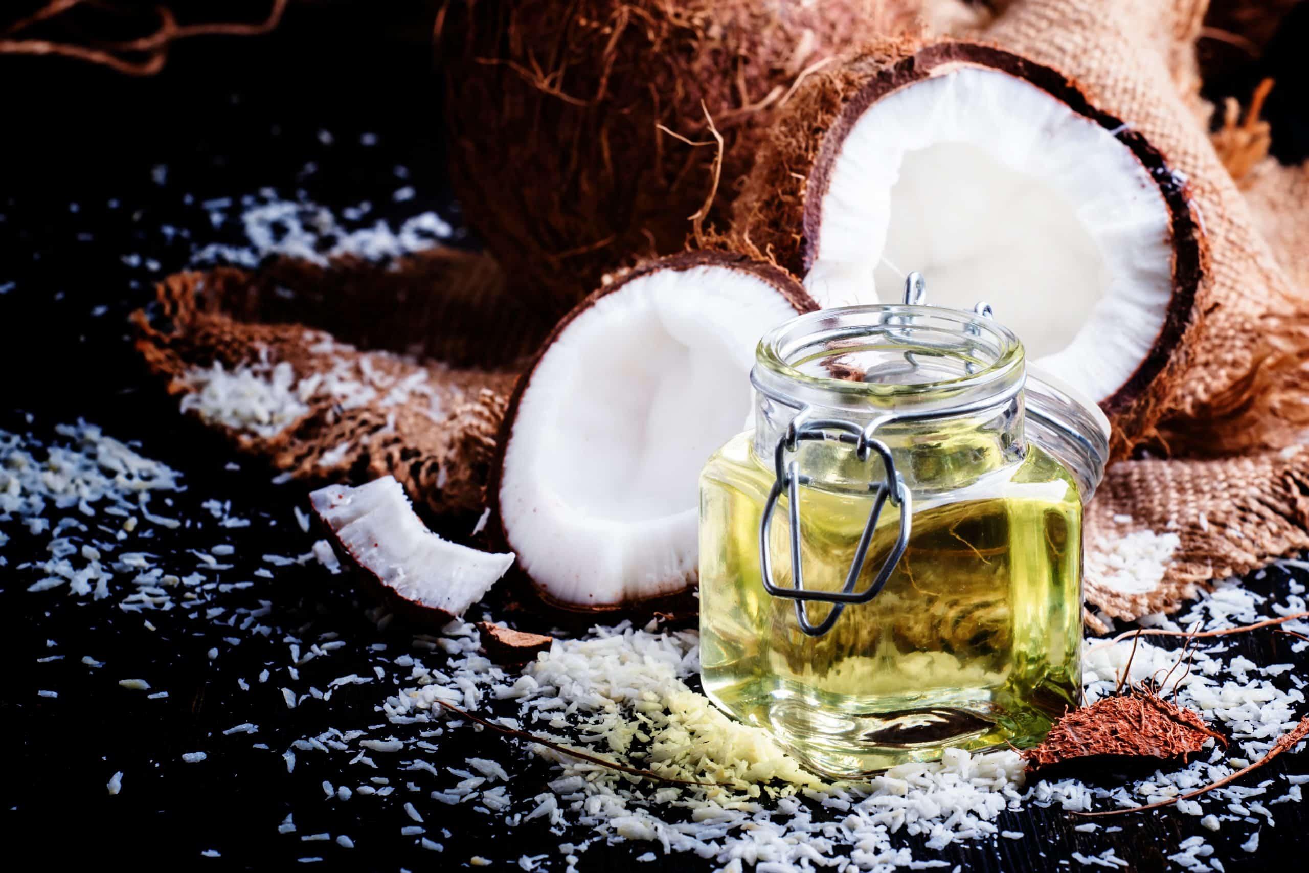 Coconut oil, selective focus