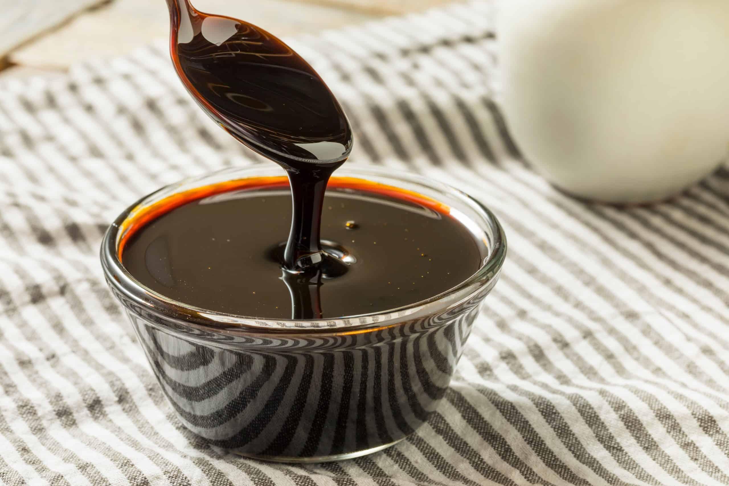 Organic Black Cane Sugar Molasses in a Bowl