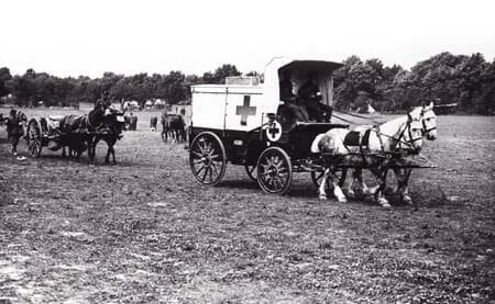 A horse ambulance in France. Image source: Simon Butler