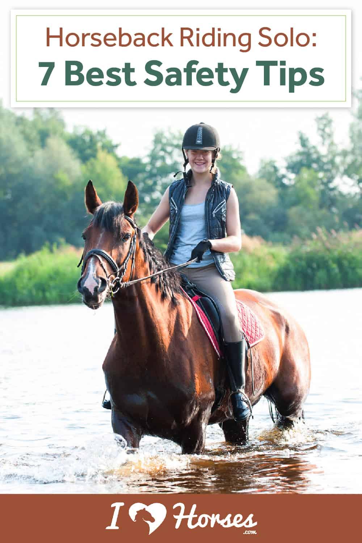 horseback riding alone