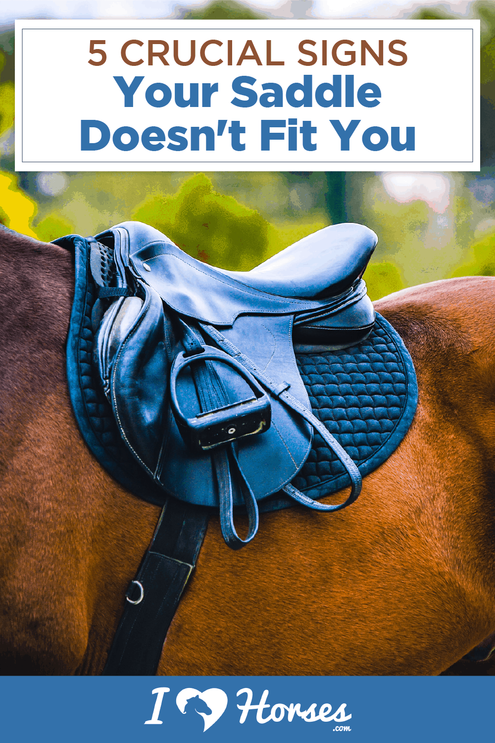 signs your saddle doesn't fit