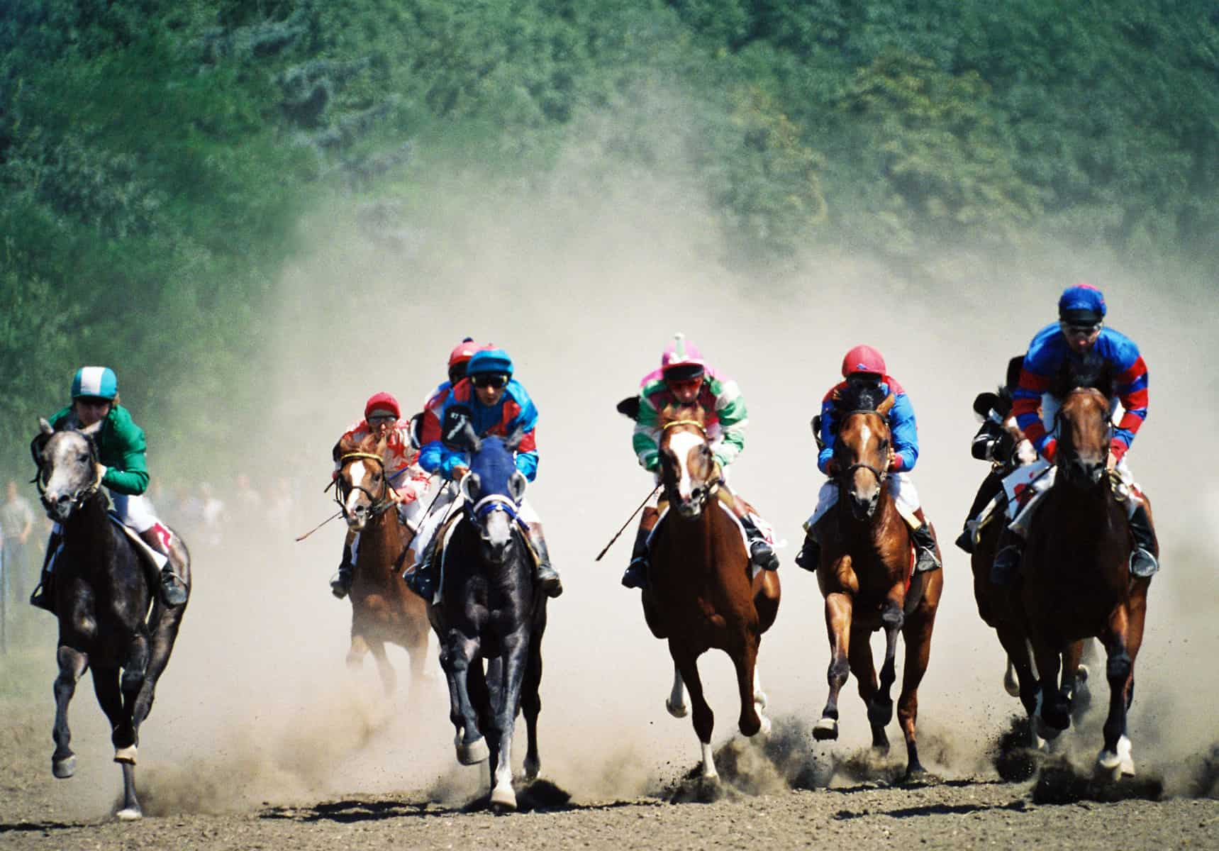 Horse race in Pyatigorsk,Caucasus,Russia.