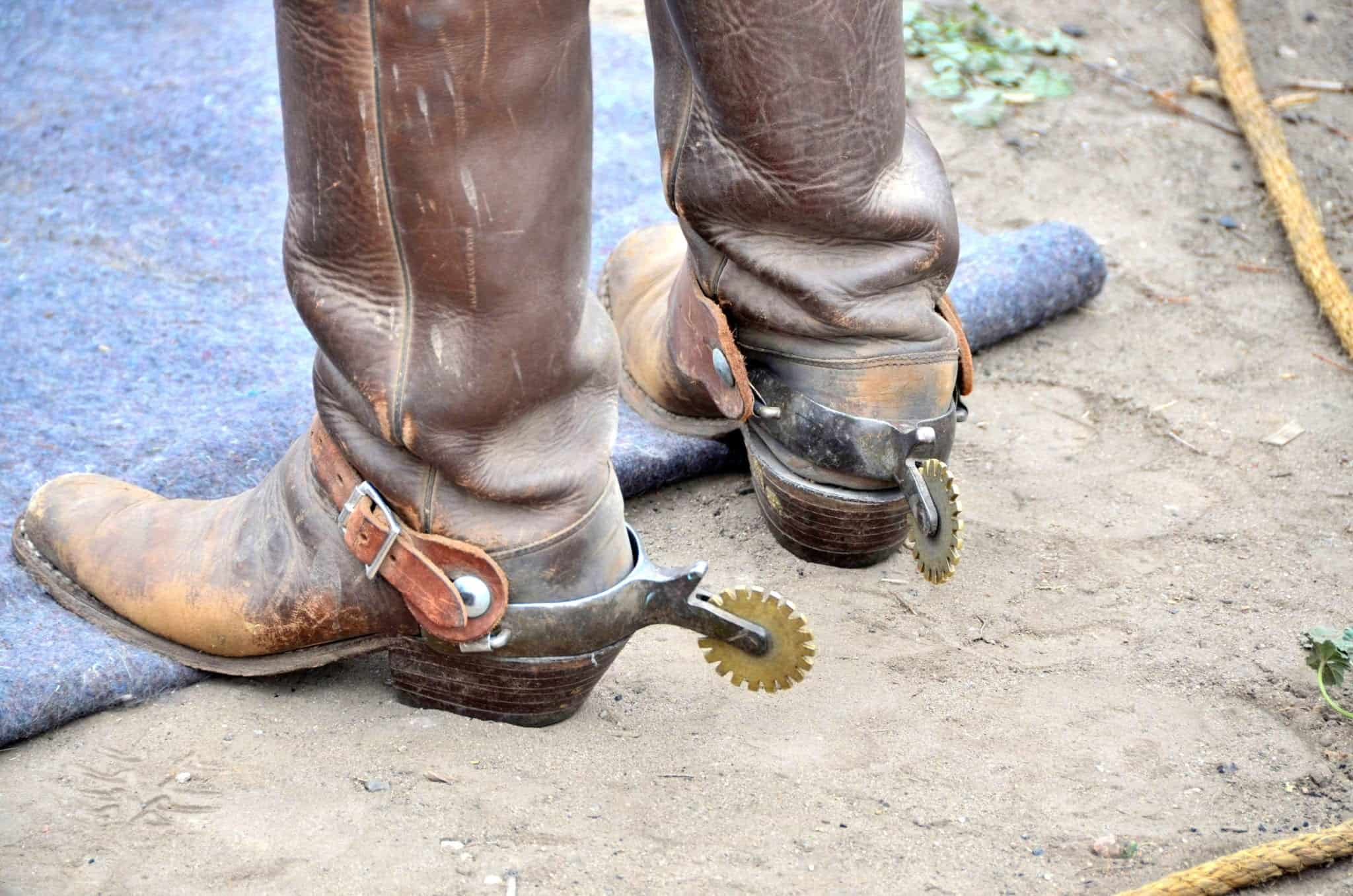 Cowboy Boots and Spurs.