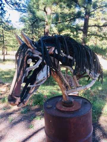 horse sculptures Monte Michener 6
