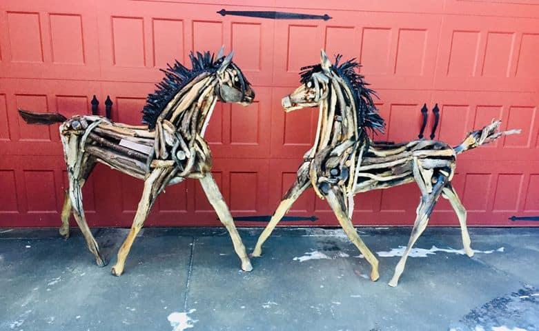 horse sculptures Monte Michener 8