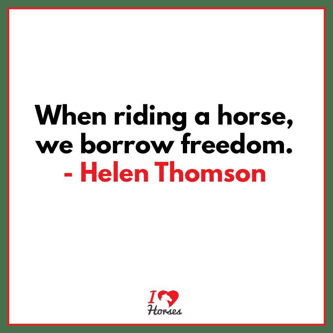 horse quote helen thomson