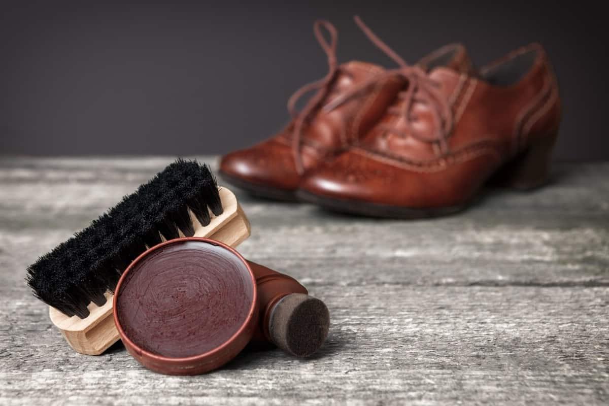 Shoe polish.