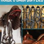 Horse supllies collage