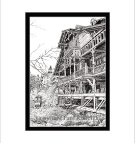 Mohonk Mountain House, Pen and Ink Print