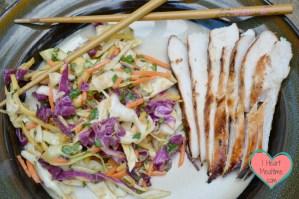 Fresh, fast, delicious, goto Thai Slaw Dish
