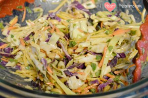 Tossing the slaw