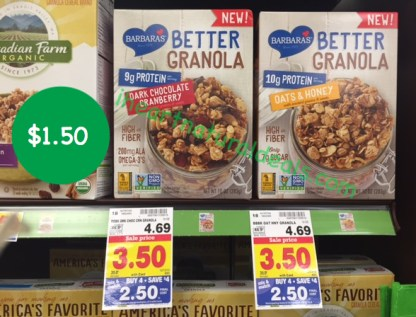 Barbara's Better Granola coupon deal