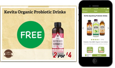 KeVita Organic Probiotic Drink Coupon Deal