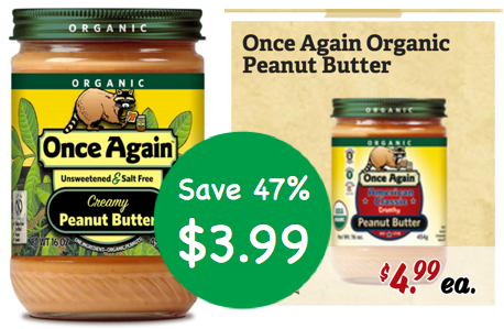 Once Again Organic Peanut Butter Coupon Deal