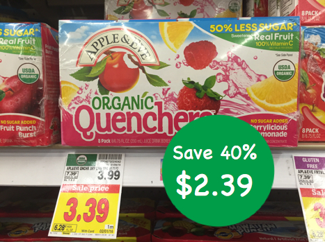 Apple and Eve Organic Quenchers Coupon