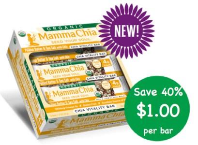 Mamma Chia Peanut Butter & Sea Salt Chia Vitality Bars