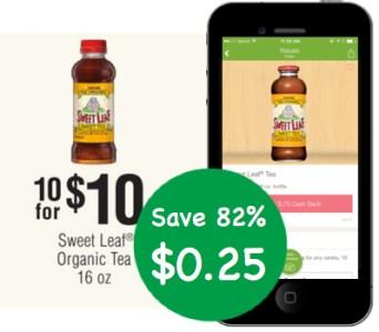 Sweet Leaf Organic Tea Coupon Deal