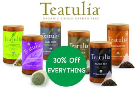 Teatulia National Hot Tea Month Sale