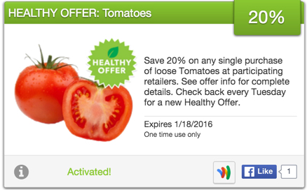 SavingStar Healthy Offer of the Week – Get 20% off Tomatoes