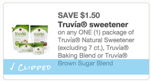 Truvia Sweetener Coupon