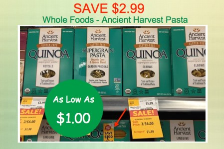 Ancient Harvest Pasta Coupon Deal