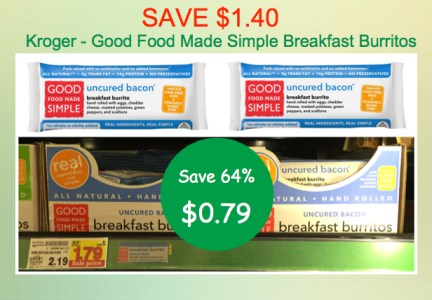 Good Food Made Simple Breakfast Burrito Coupon Deal