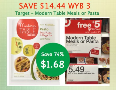 Modern Table Pasta or Meals Coupon Deal
