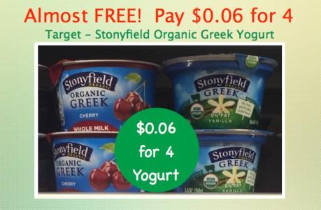 Stonyfield Organic Greek Yogurt Coupon Deal