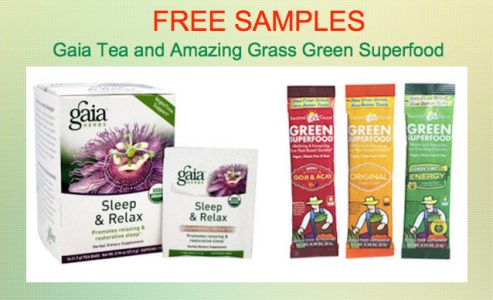 Free Samples Gaia Tea and Amazing Grass Green Superfood