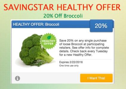 SavingStar Healthy Offer of the Week