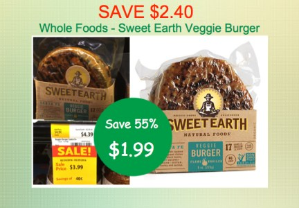 Sweet Earth Veggie Burgers Coupon Deal