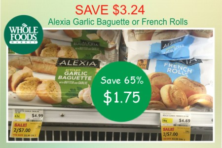 Alexia Garlic Baguette or French Rolls coupon deal