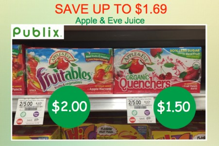Apple and Eve Juices Coupon Deal