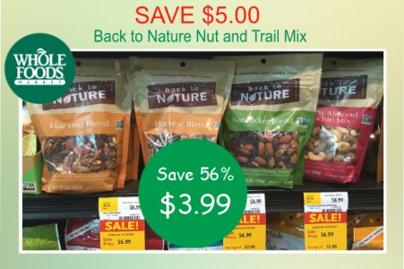 Back to Nature Nut and Trail Mix coupon deal