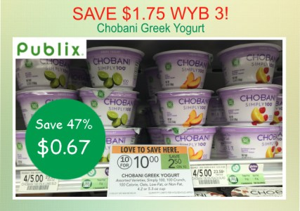 Chobani Greek Yogurt coupon deal