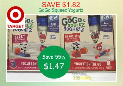 GoGo Squeez Yogurtz coupon deal