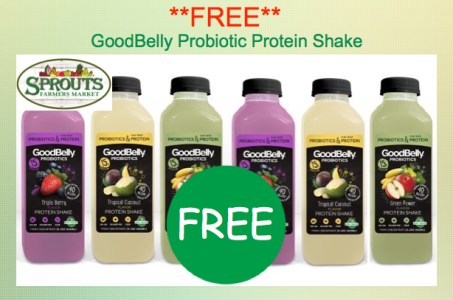GoodBelly Probiotic Protein Shake Coupon Deal