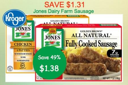 Jone Dairy Farm Sausage Coupon Deal