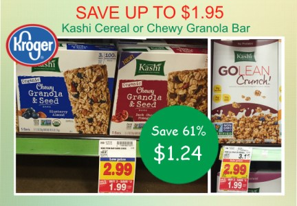 Kashi Cereal or Chewy Granola Bar coupon deal