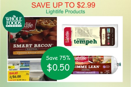 Lightlife Products coupon deal 2
