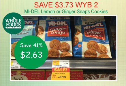Save 373 Wyb 2 Whole Foods Mi Del Lemon Or Ginger Snaps Cookies