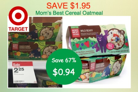 Mom's Best Cereal Oatmeal Coupon Deal