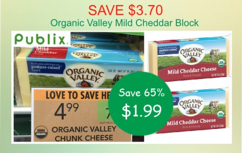 Organic Valley Mild Cheddar Block coupon deal