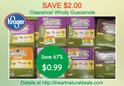 Kroger Clearance - Wholly Guacamole coupon deal