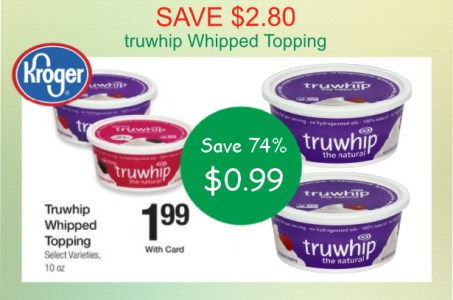 truwhip Whipped Topping coupon deal