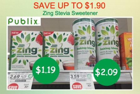 Zing Zero Calorie Sweetener Coupon Deal