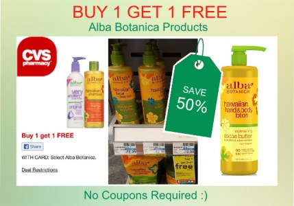 Alba Botanica Products Coupon Deal